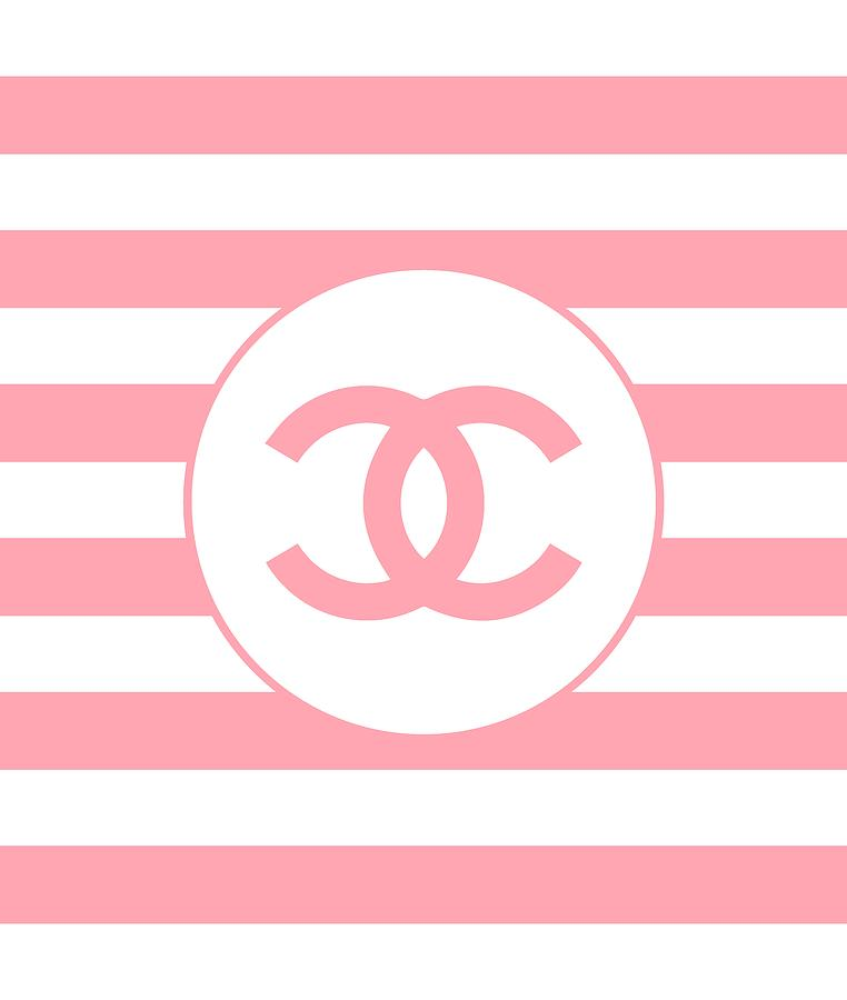 Chanel Digital Art - Chanel - Stripe Pattern - Pink - Fashion And Lifestyle by TUSCAN Afternoon