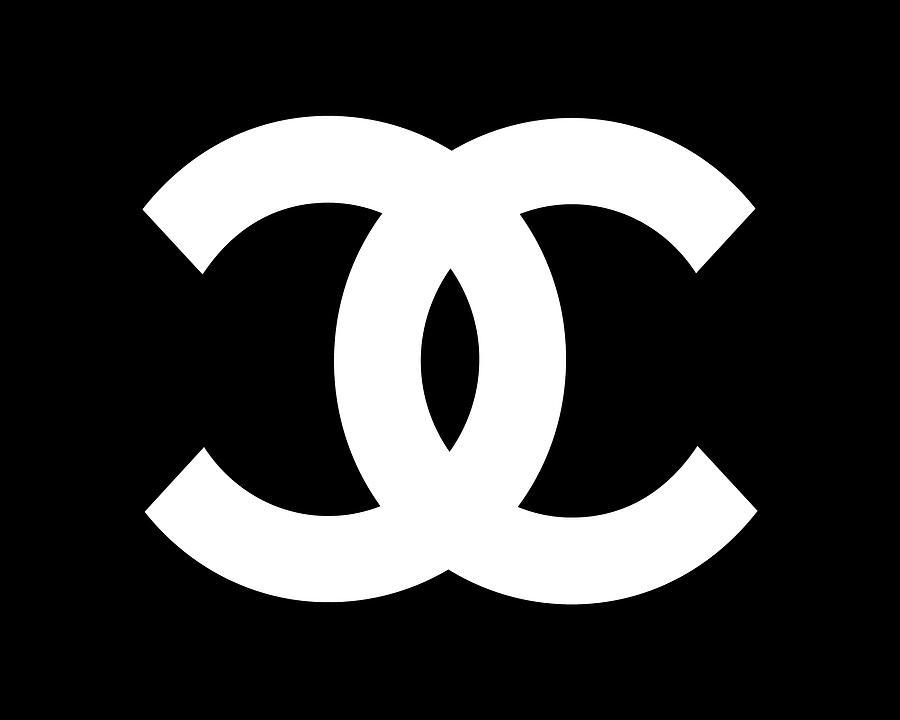 Chanel Digital Art - Chanel Symbol black-white CH5040 by Edit Voros