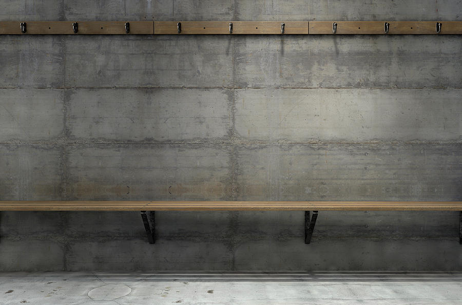 Locker Room Digital Art - Change Room Hangers And Bench by Allan Swart