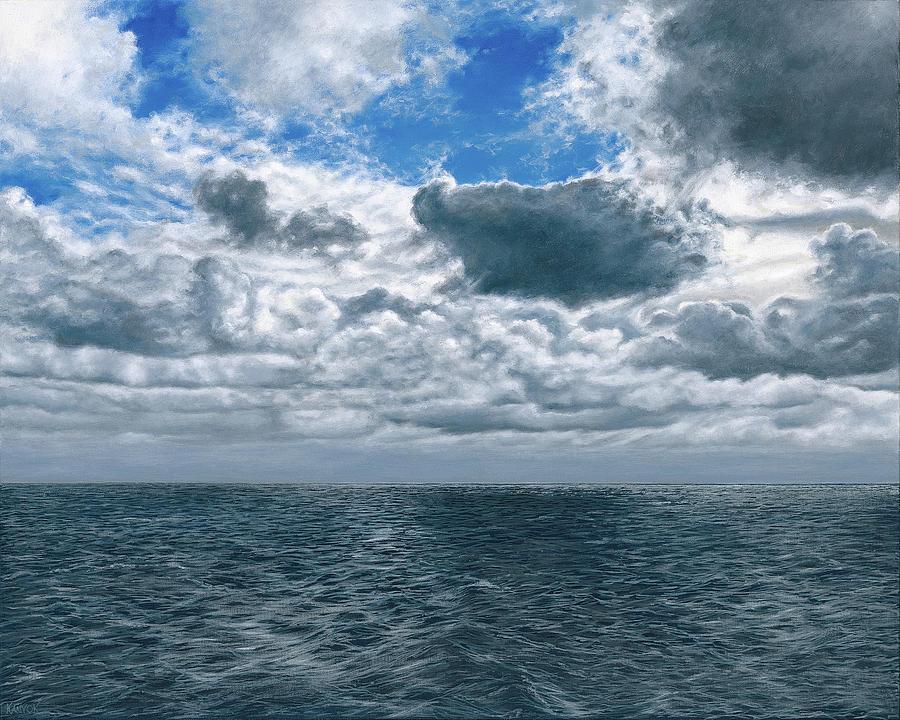 Seascape Painting - Changing Horizon by Darrel Kanyok