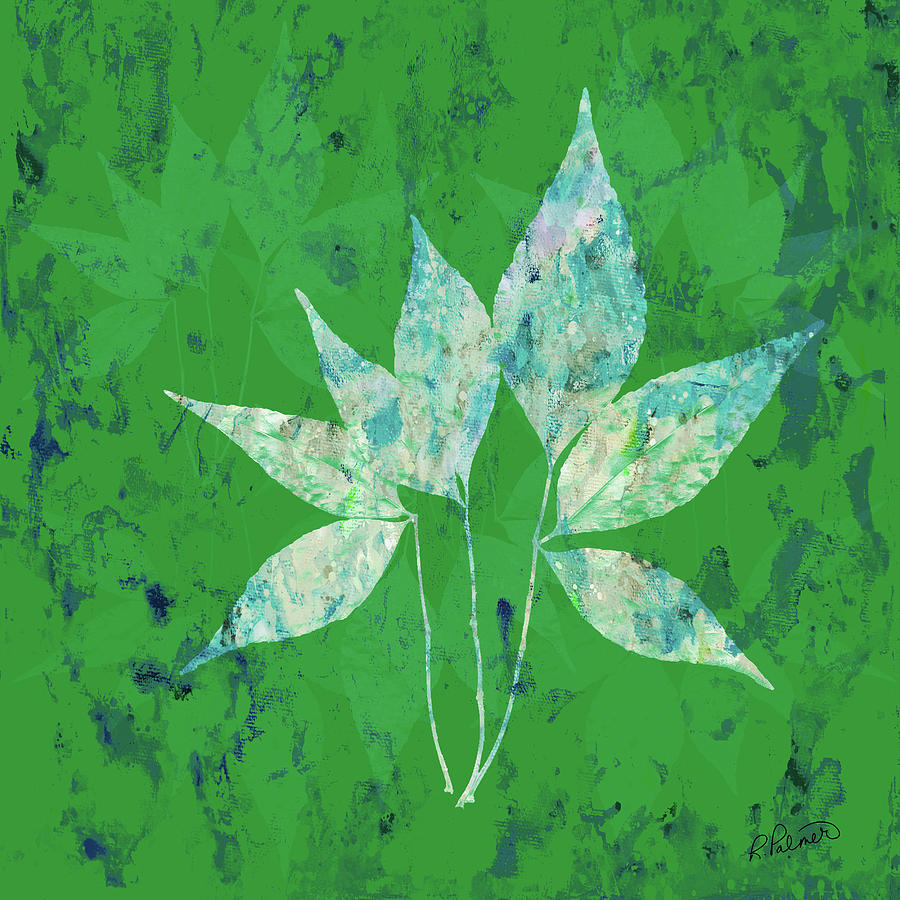 Abstract Digital Art - Changing Leaves by Ruth Palmer
