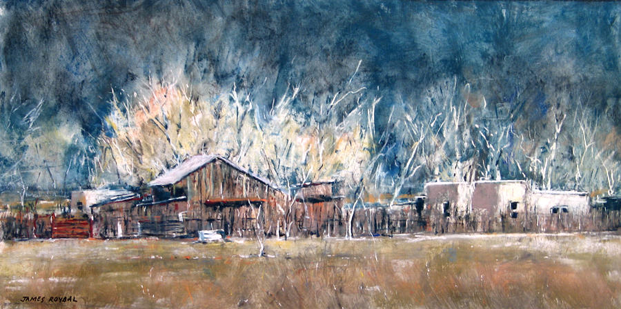 Barn Painting - Changing Light by James Roybal