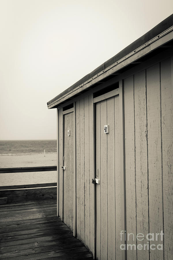 Cape Cod Photograph - Changing Rooms At The Beach by Edward Fielding