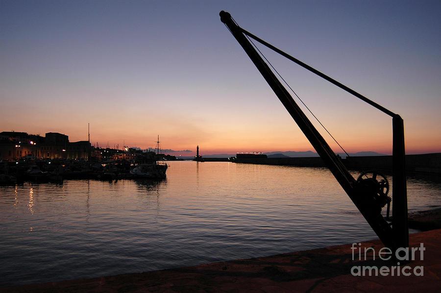 Chania Photograph - Chania Harbour by Simon Pocklington