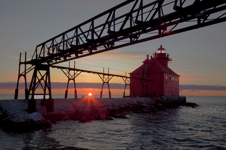 Light Houses Photograph - Channel Light, Dawn by George Sanquist