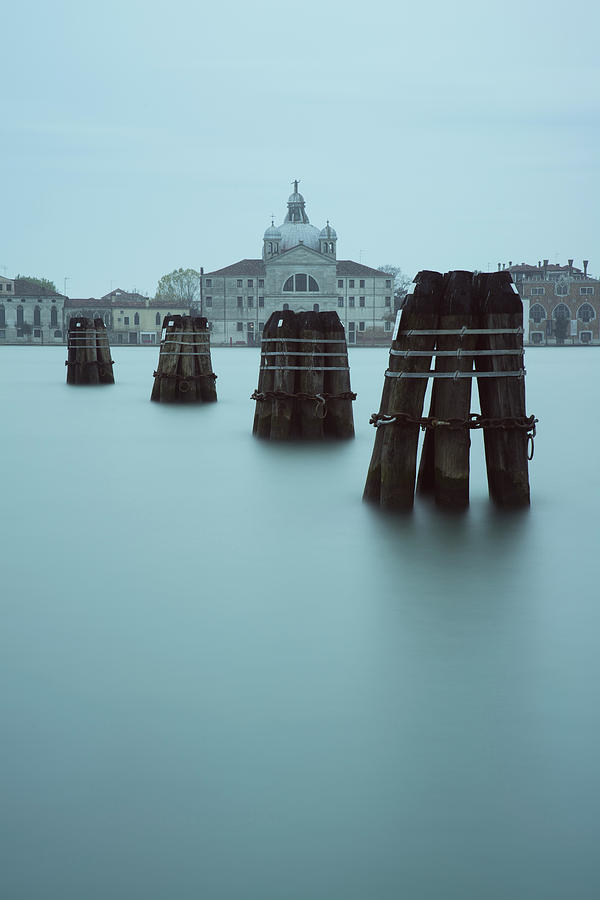 Grand Canal Photograph - Channel Markers, Venice, Italy by David Stanley