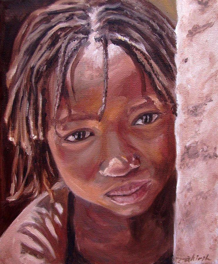 African Girl Painting - Chantal by Tahirih Goffic
