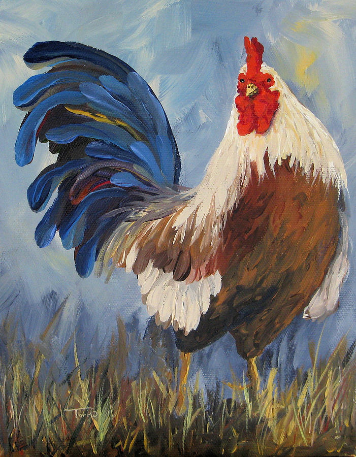 Chanticleer painting by torrie smiley for The chanticleer