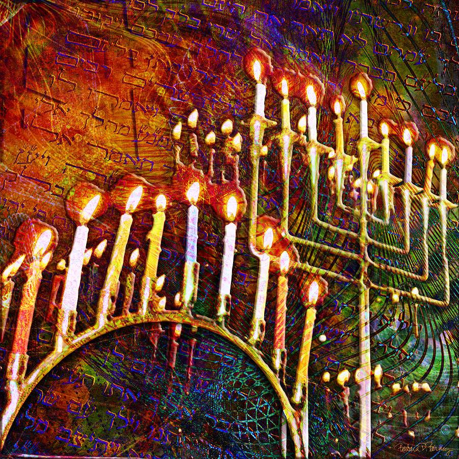 Chanukah Digital Art - Chanukiah by Barbara Berney