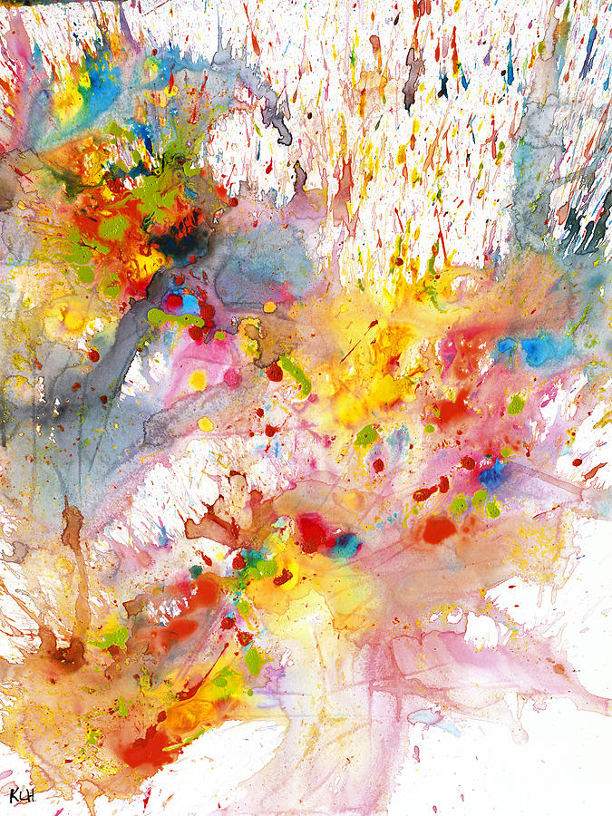 Abstract Expressionism Painting - Chaotic Craziness Series 2001.033114 by Kris Haas