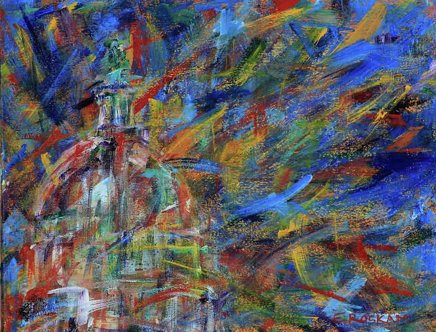 Congress Painting - Chaotic Dome by Elizabeth Roskam