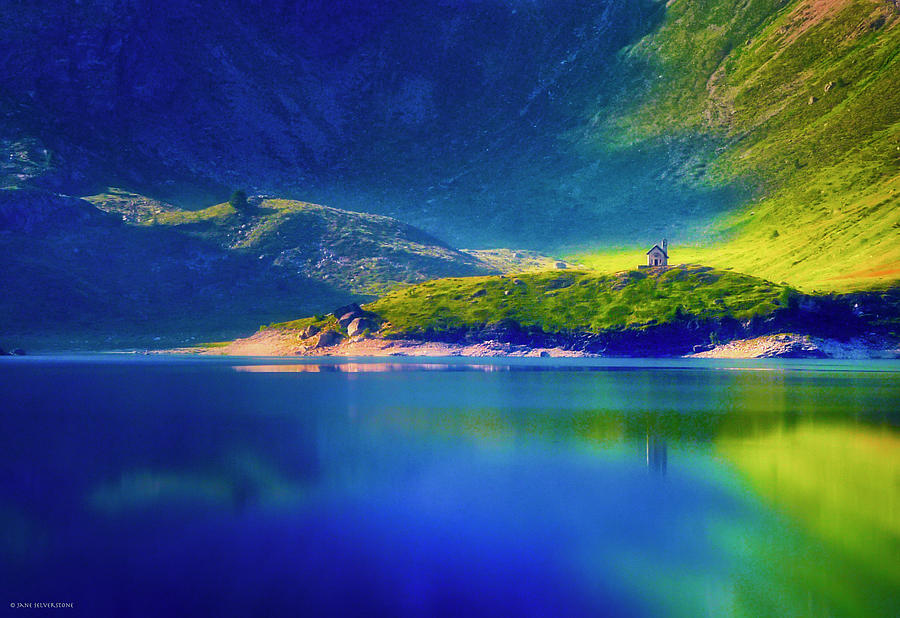 Landscape Photograph - Chapel By The Lake by Jane Selverstone