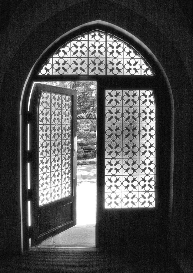 Church Photograph - Chapel Door by Steven Ainsworth