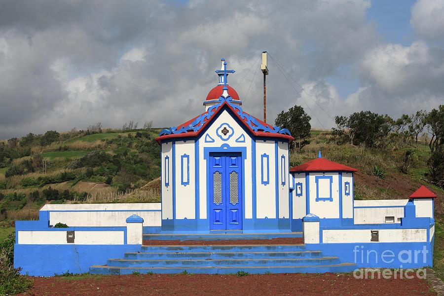 Church Photograph - Chapel In Agua De Pau - Azores by Gaspar Avila