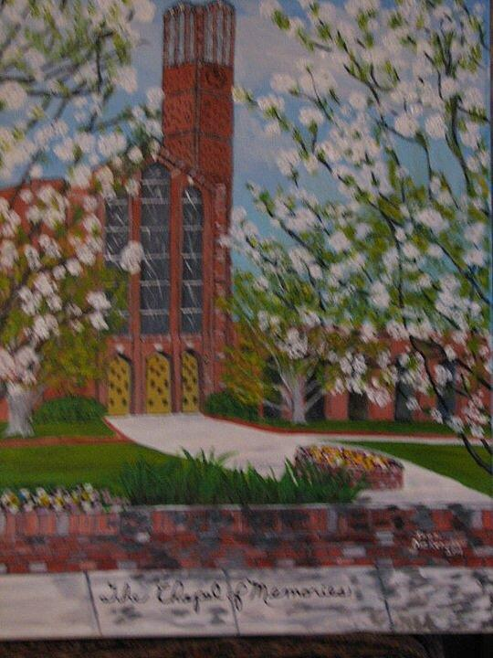 Chapel Of Memories Painting by Inez Dickerson