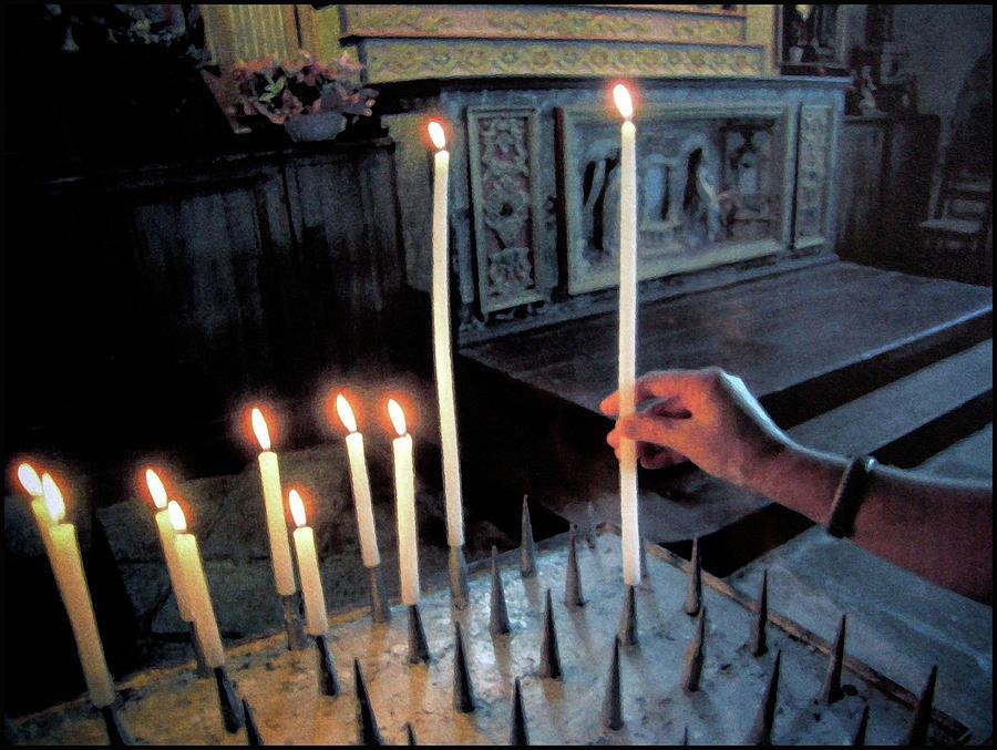 Candle Digital Art - Chapelle De Penhors by Franz Roth
