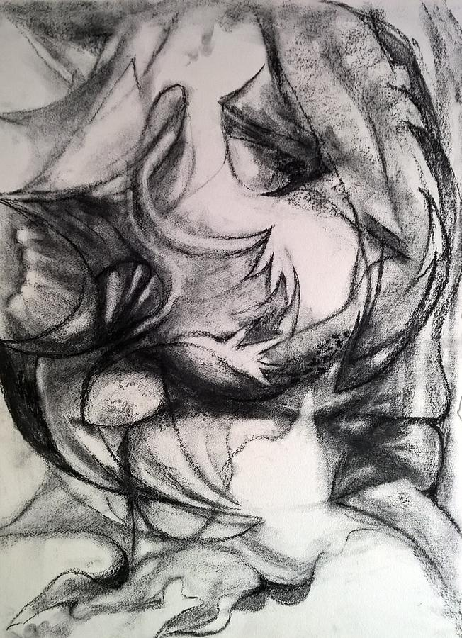Charcoal Study by Nicolas Bouteneff