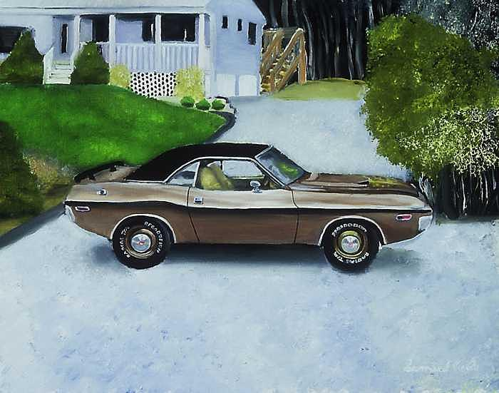 Charger Painting by Sam  Cole