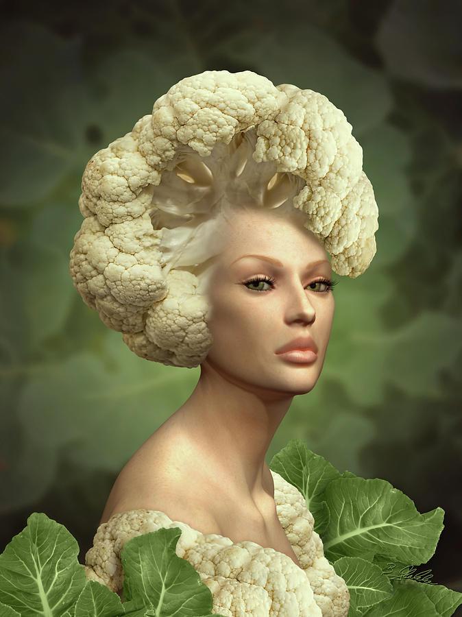 Charismatic Cauliflower Mixed Media