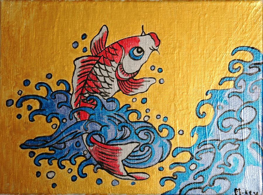 Koi Fish Painting - Charissa Fish by Mikey Milliken