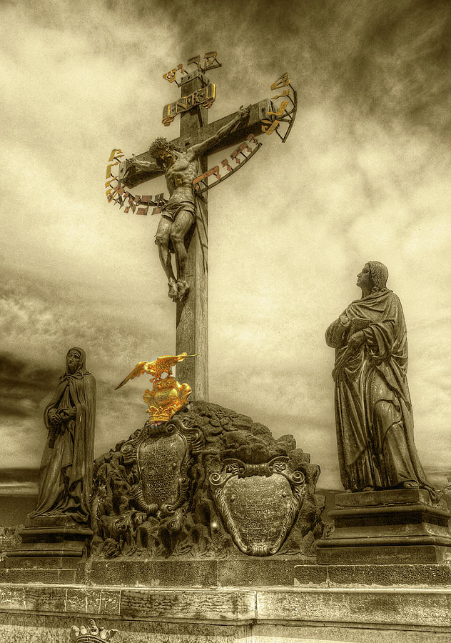 Charles Bridge Crucifix  by Michael Kirk