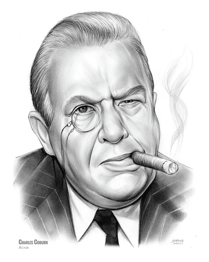 Charles Coburn Drawing