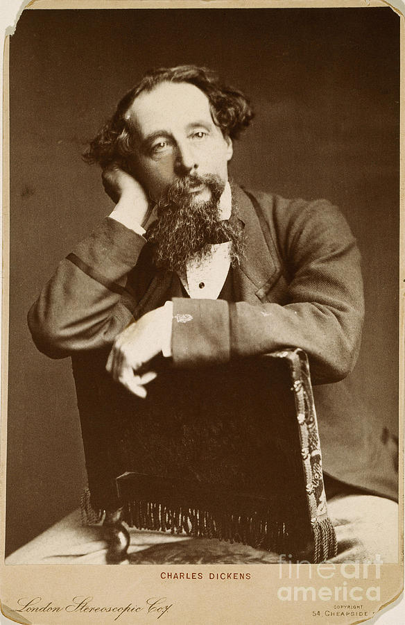 1860 Photograph - Charles Dickens by Granger