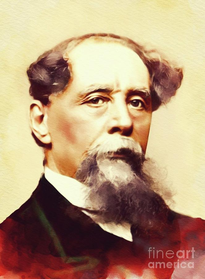 Charles Dickens, Literary Legend Painting