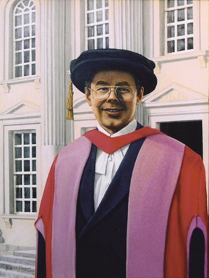Portrait Painting - Charles Harpum Receiving Doctorate Of Law by Richard Harpum