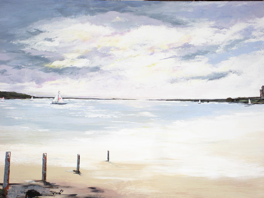Seascape Painting - Charles Island At Low Tide by Marcia Crispino