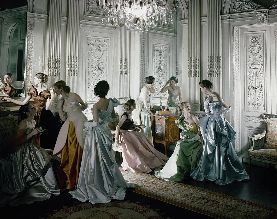 Charles James dresses that appeared in the June, 1948 Vogue.