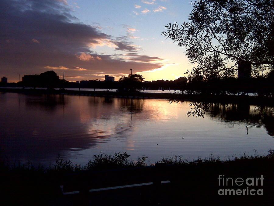 Boston Photograph - Charles Lagoon after Sunset by Rachel Burckardt