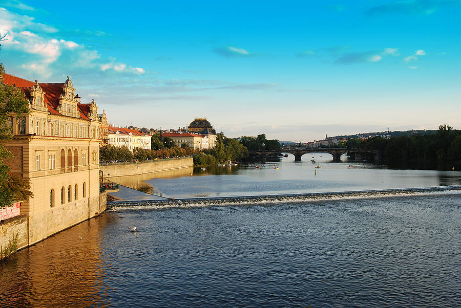 Prague Photograph - Charles Or Carls Bridge View In Prague by Evgeny Ivanov