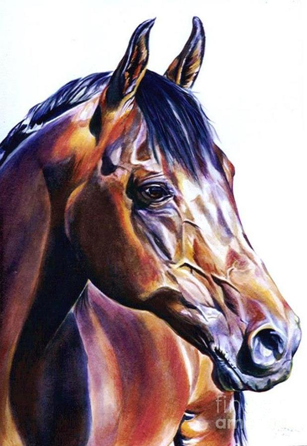 Horse Painting - Charles by Suzanne Leonard