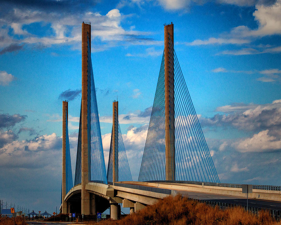 Indian River Bridge Photograph - Charles W Cullen Bridge South Approach by Bill Swartwout Photography