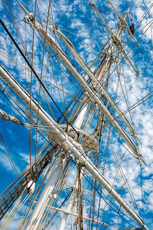 Charles W. Morgan - Sails Photograph