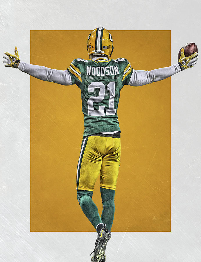 timeless design ce984 fff2d Charles Woodson Green Bay Packers Art 2 by Joe Hamilton