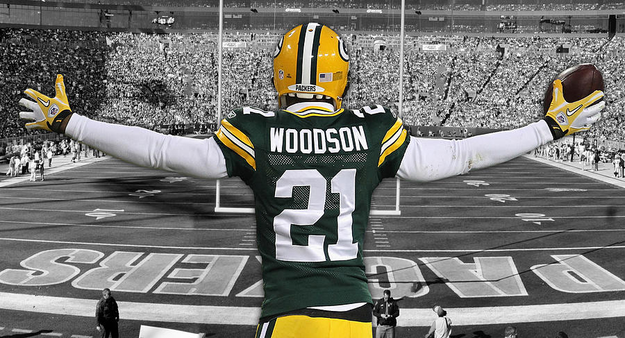 meet 6d97e d17c9 Charles Woodson Green Bay Packers Stadium Art 2