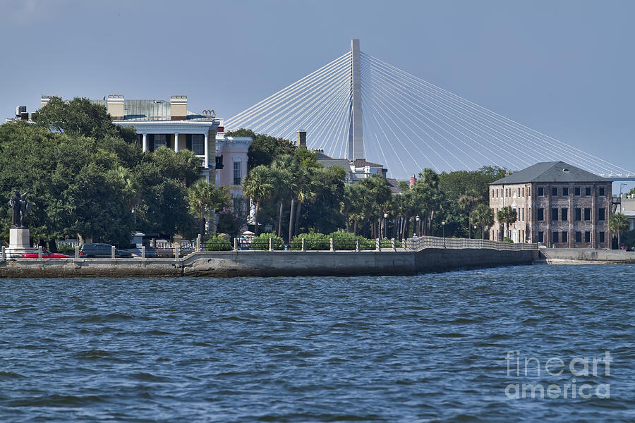 Charleston Battery Row Photograph - Charleston Battery Row And Bridge  by Dustin K Ryan