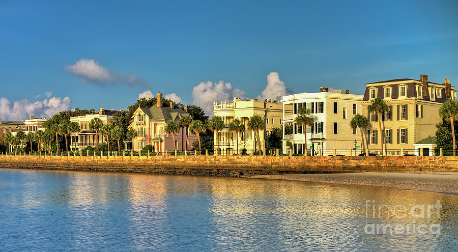 Charleston Battery Row Of Homes Photograph