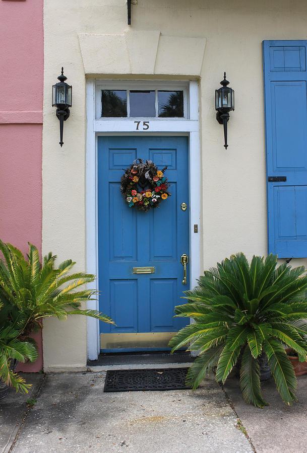Charleston Blue Door Photograph