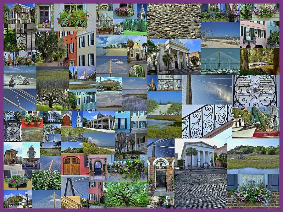 Charleston Photograph - Charleston Collage 1 by Allen Beatty