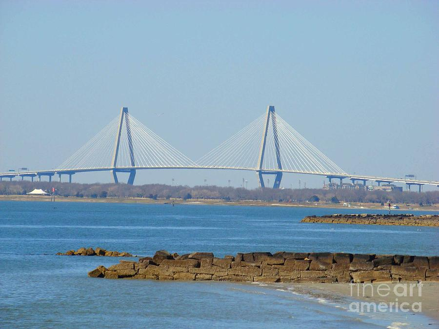 Bridge Photograph - Charleston Harbor Bridge by Sherry Vance