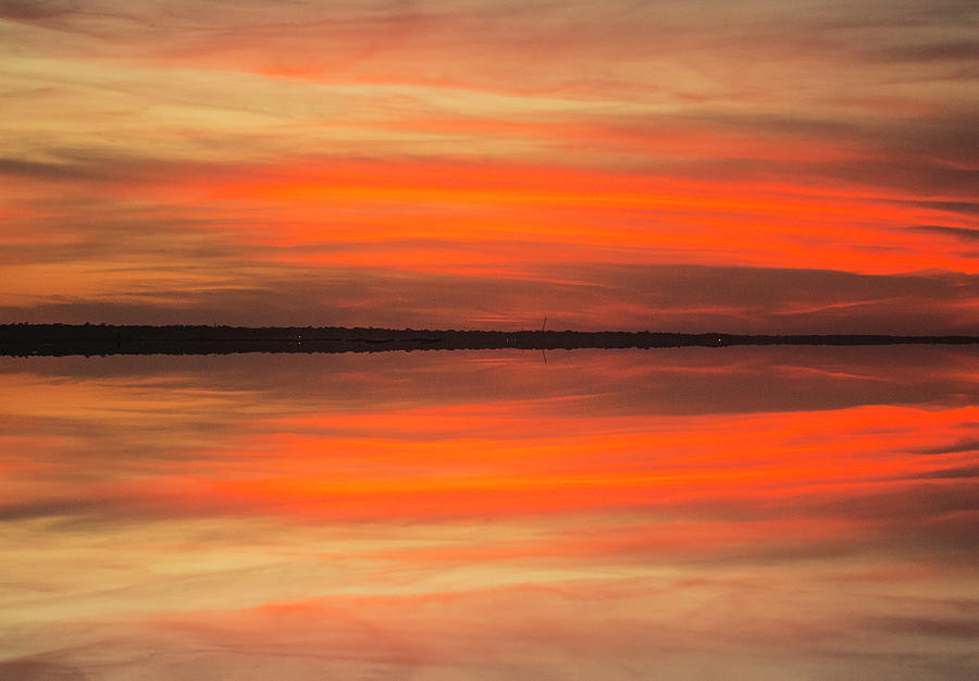 Charleston Harbor Sunset 05 by Jim Dollar