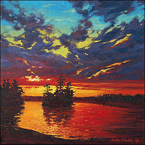 Charleston Lake Painting - Charleston Lake Ontario by Dmitry Oivadis