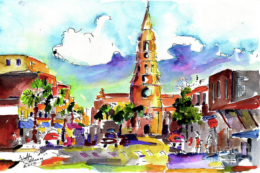 Charleston North Market Street Painting by Ginette Callaway