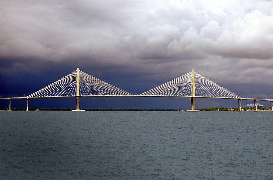 Span Photograph - Charleston Ravenel Bridge by Skip Willits