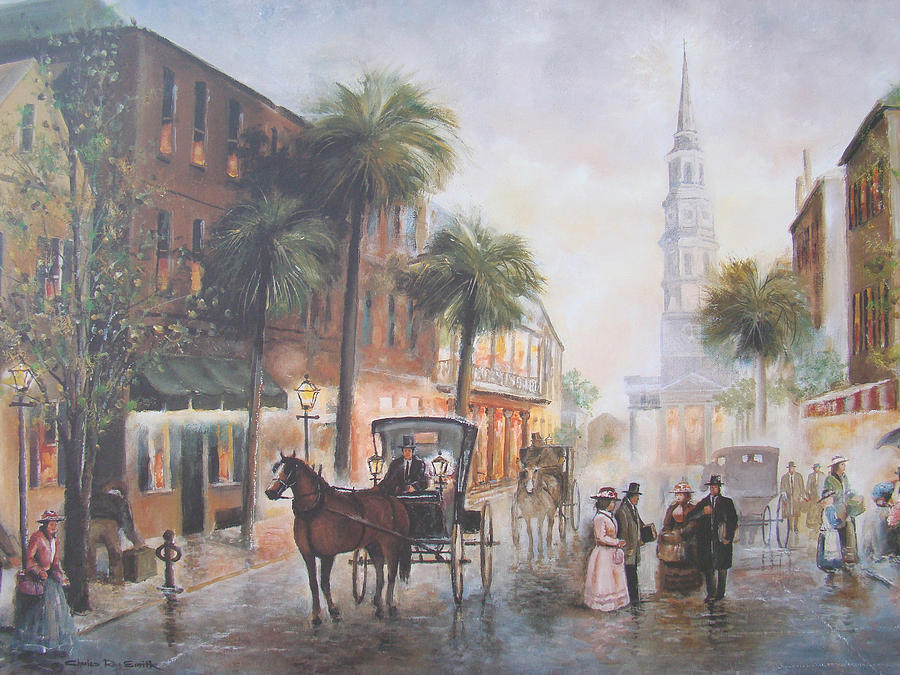 Charleston Painting - Charleston Somewhere In Time by Charles Roy Smith