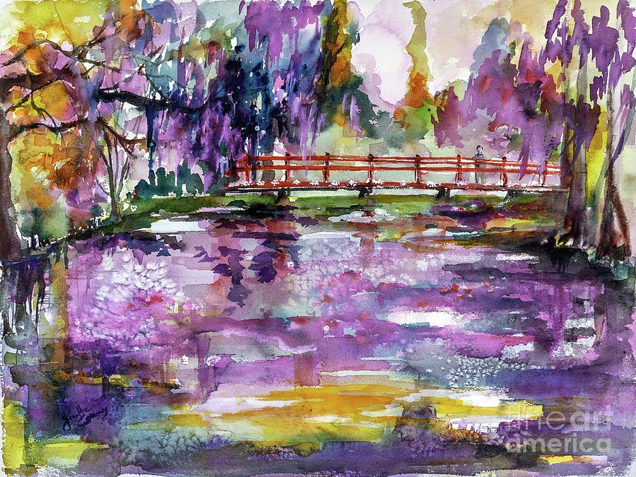 Charleston South Carolina Magnolia Gardens Painting by Ginette Callaway