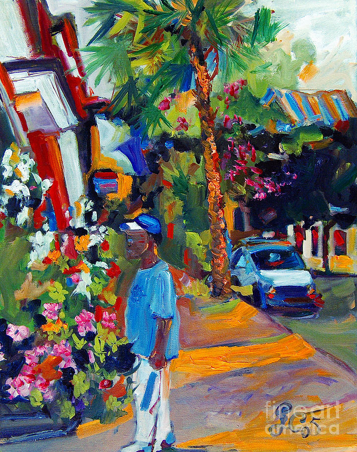 Charleston South Carolina Shopping Painting by Ginette Callaway